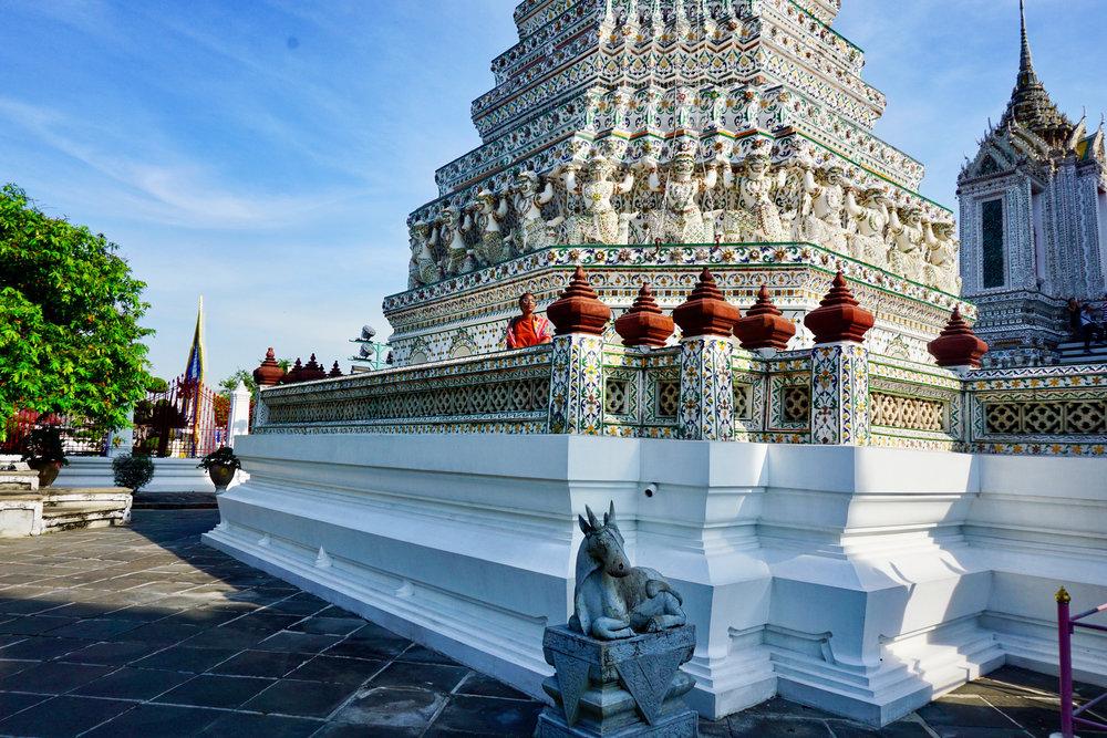 Wat Arun temple during the day in November in Bangkok