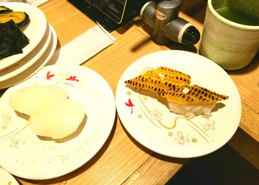 uprooted-traveler-vegan-guide-to-tokyo-katsu-midori-conveyer-sushi