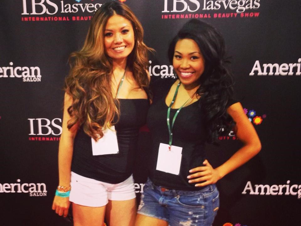 Fria and I at the 2014 International Beauty Conference in Las Vegas.