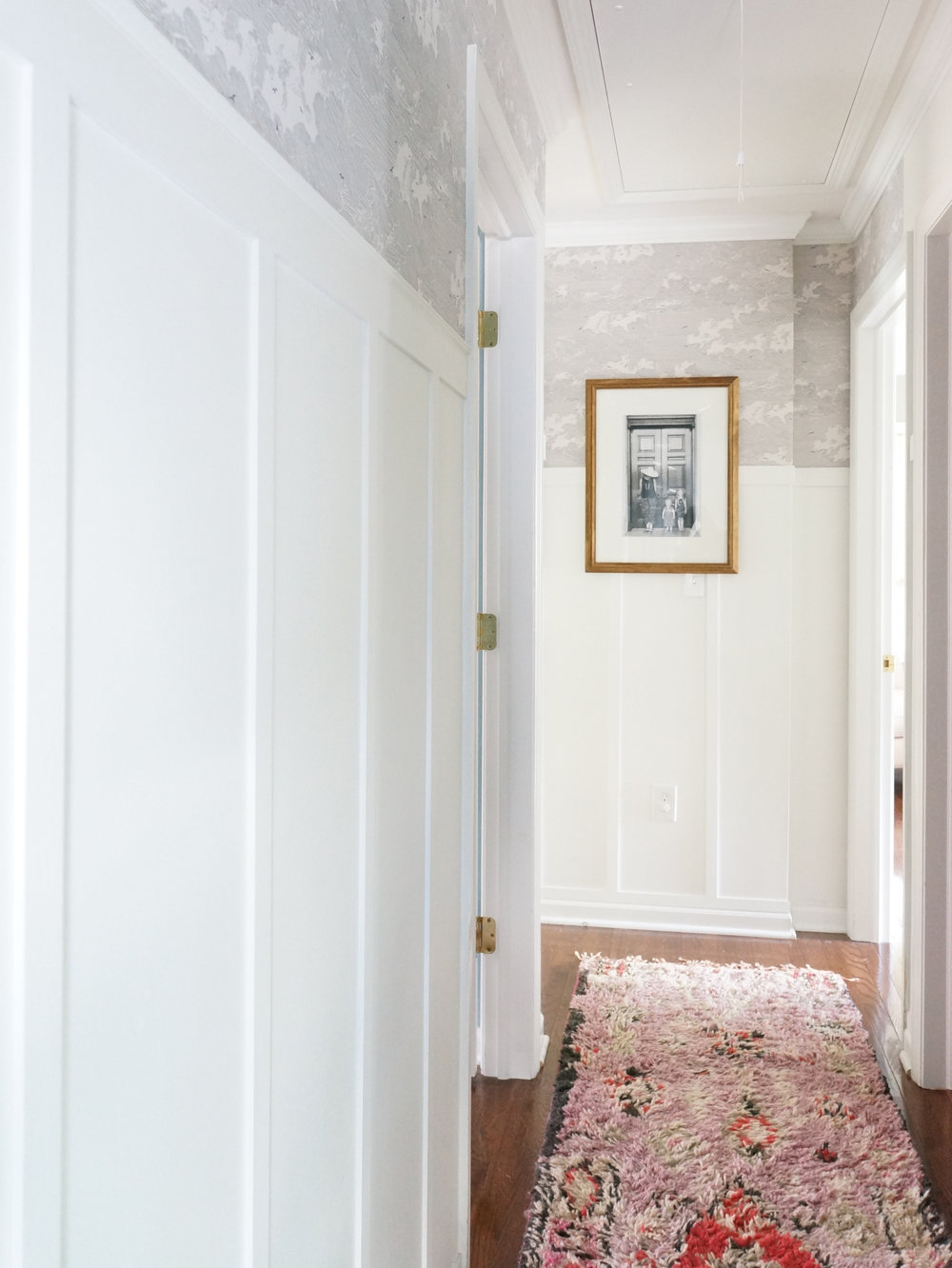 The hallway in progress...can't wait to finish adding trim and art!