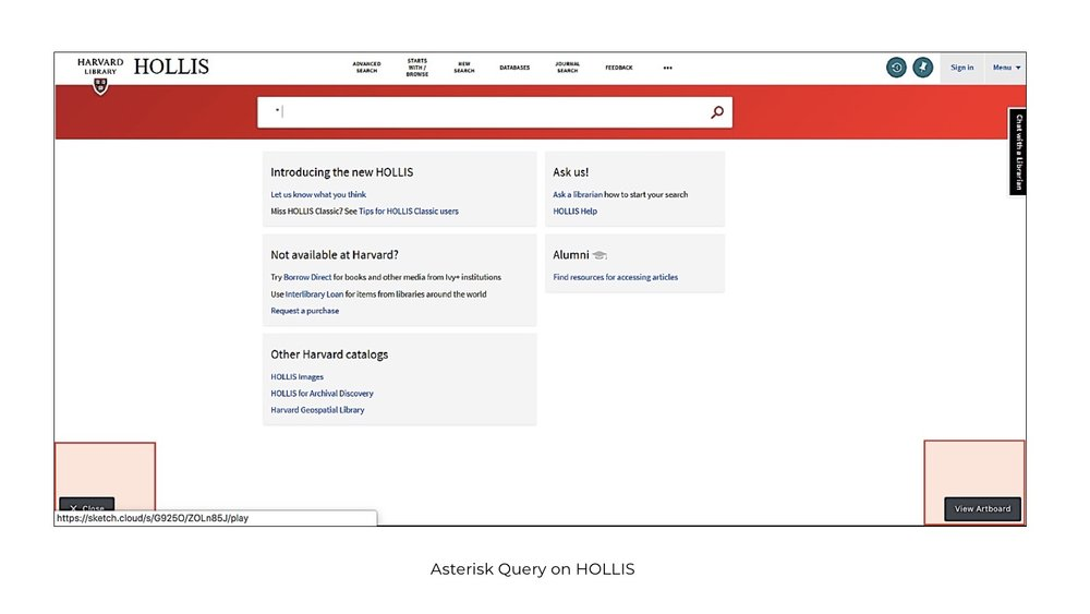 Asterisk Query in HOLLIS