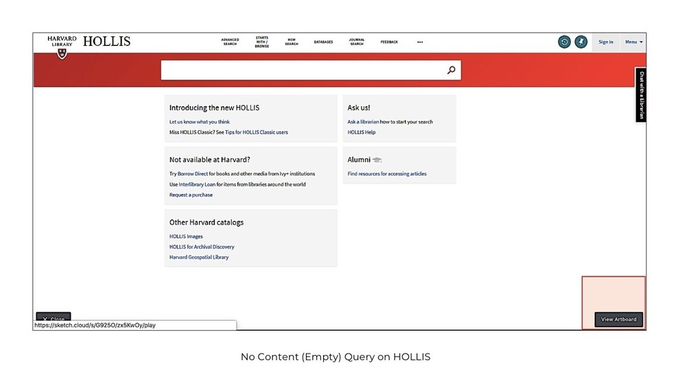 No Content Query in HOLLIS