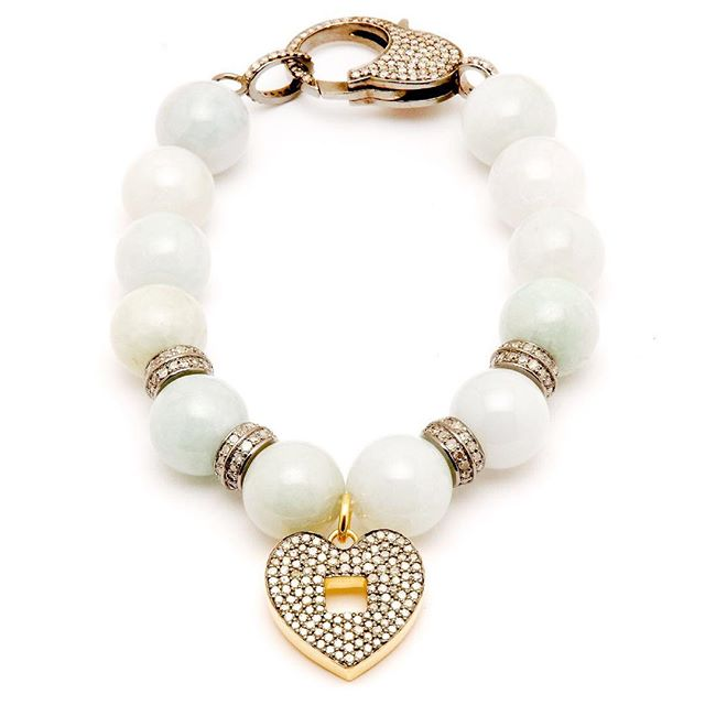 Jade-the stone of harmony, balance and nourishment. If your heart needs a little extra love, the XXO Heart Bracelet is for you. Shop link  in our bio. Copyright CSMD: Carole Shashona Modern Designs