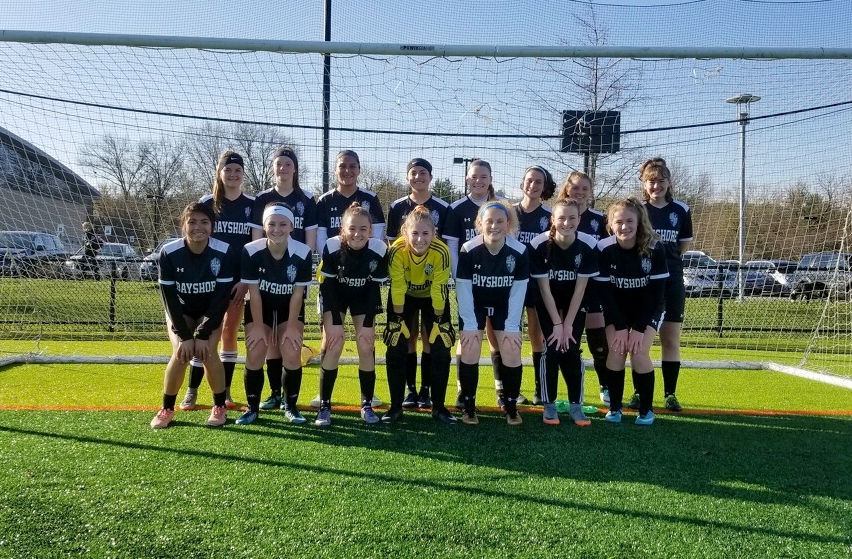 Bayshore SC's Velocity Black at York College's Soccer Play Day 2018.