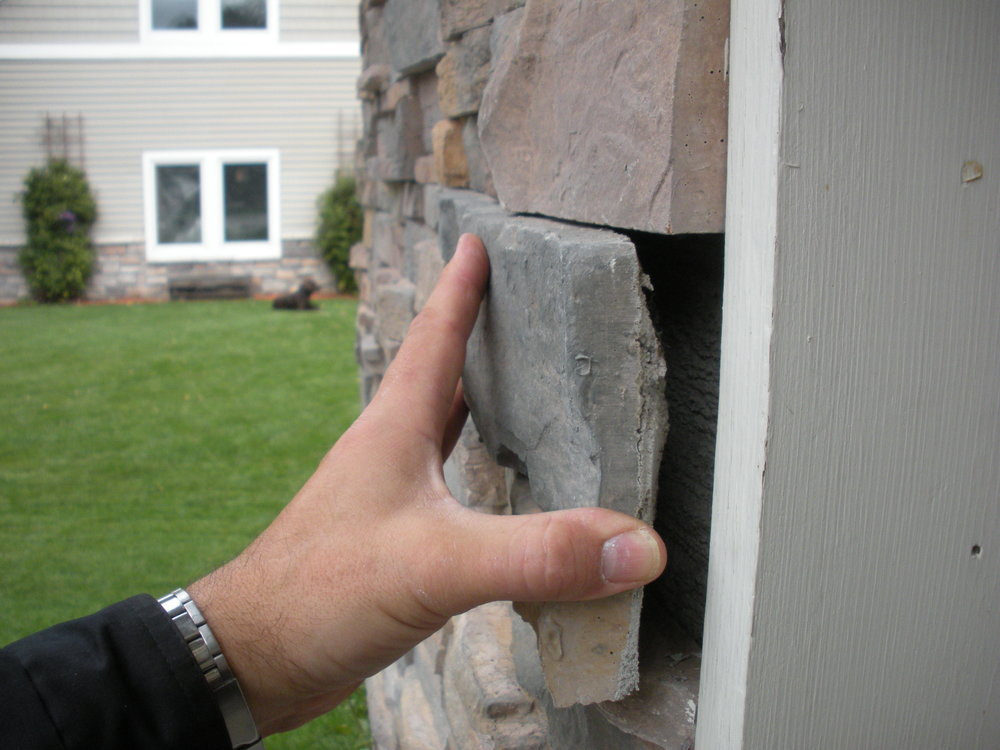 Loose faux stonework