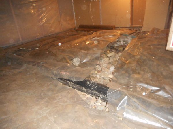 Crawl space with water...