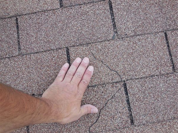 Cracks in shingles