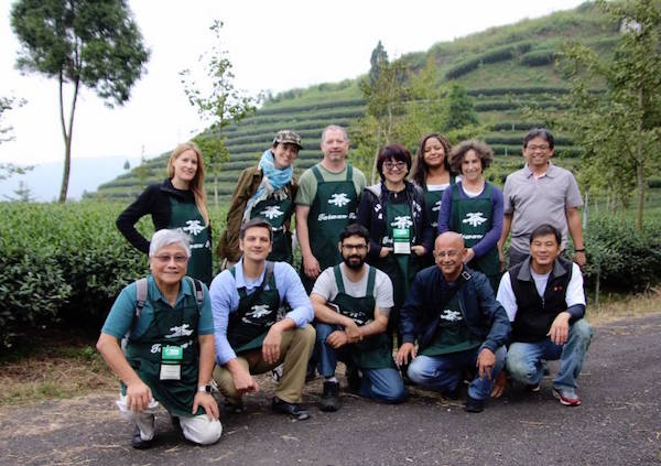 Our TOST 2017 group, at the top of Alishan, in tea master's beautiful eco garden...
