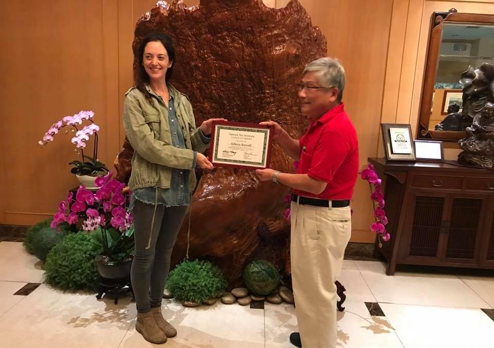 Getting my Taiwan Oolong Certification, with Thomas Shu, in Taipei.