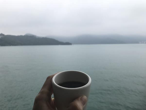 My cup of oolong at the serene Sun Moon Lake... what a beauty...