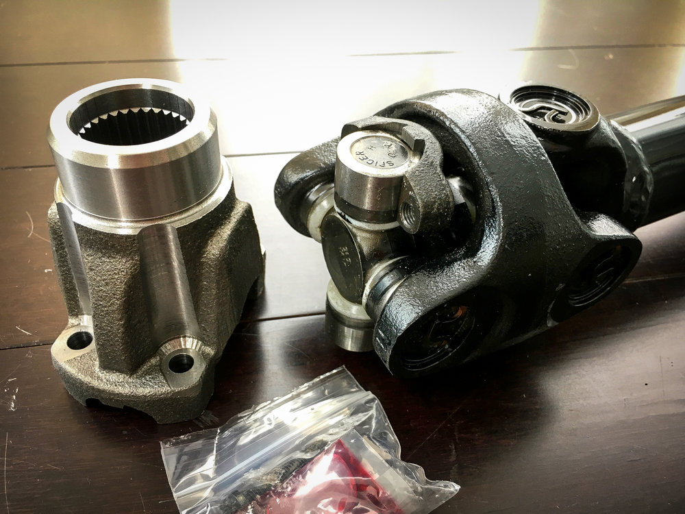American made Spicer u-joints and yoke...