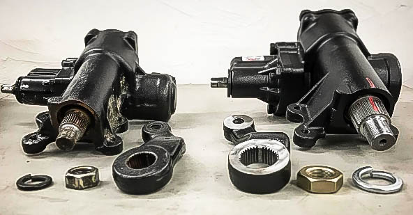 Stock steering gear and PSC Big Bore XD side by side...