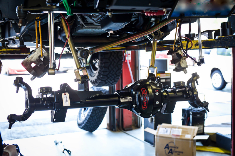 At MaxItOutOffroad for axle install...
