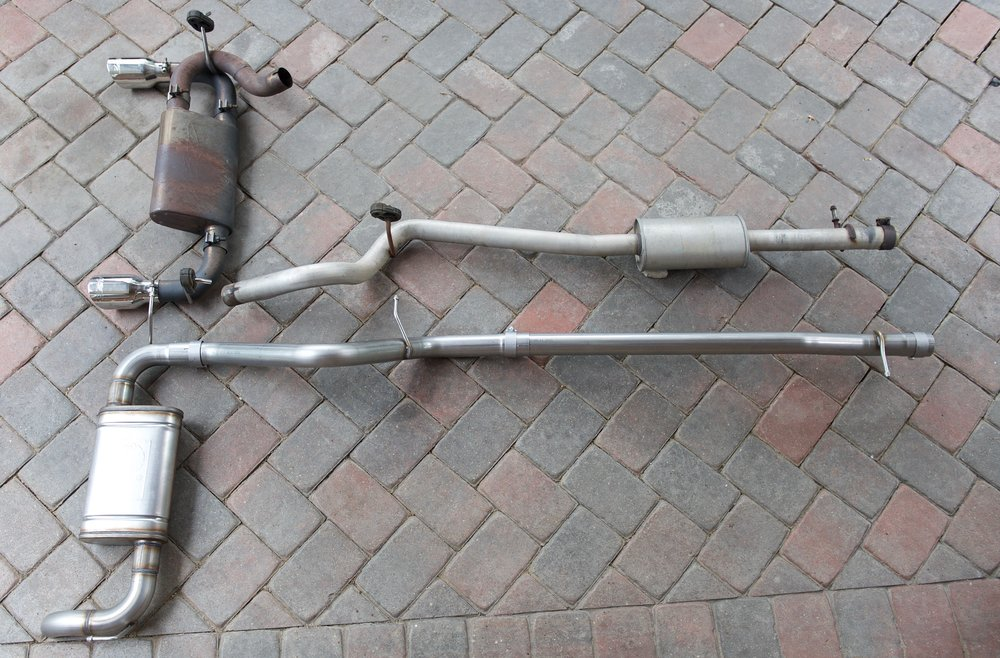 Stock mid section and my previous MBRP muffler...