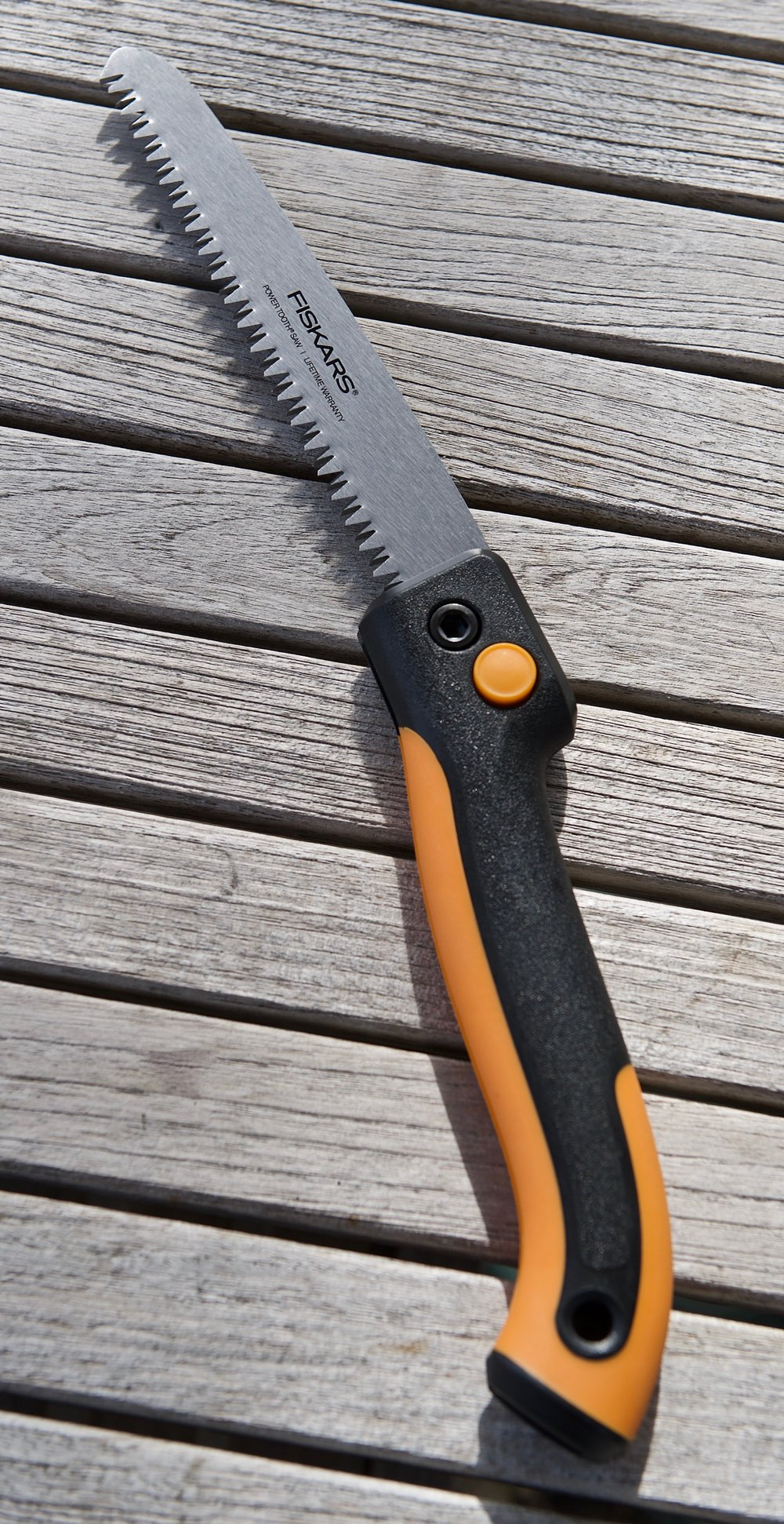 This is a little bigger saw than the SOG I carry. It will be helpful on the bigger branches, firewood...