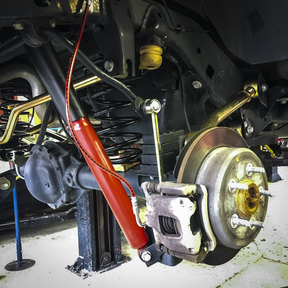 """We are running 4"""" of bump stop, which is recommended for 35"""" tires and stock fenders on the 3.5"""" lift…"""