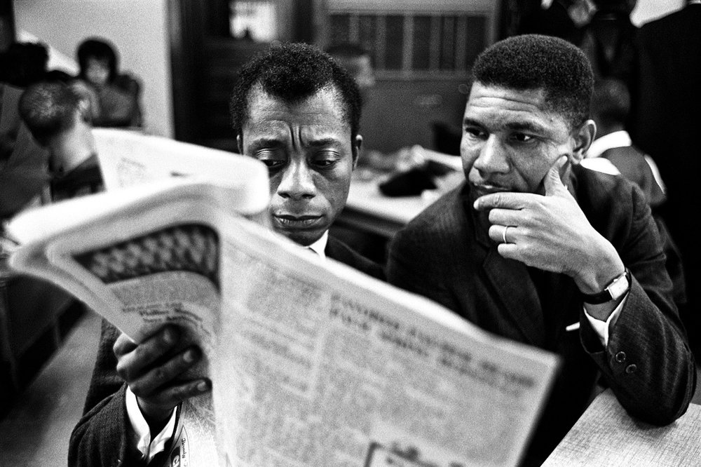 James Baldwin and Medgar Evers, 1963, photo courtesy of Steve Schapiro ©Steve Schapiro