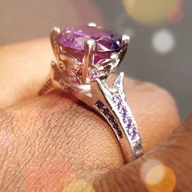 He said he wants to spend the rest of his life loving me! 😍😍😍 #futurewifey #ksquared #purpleismycolor