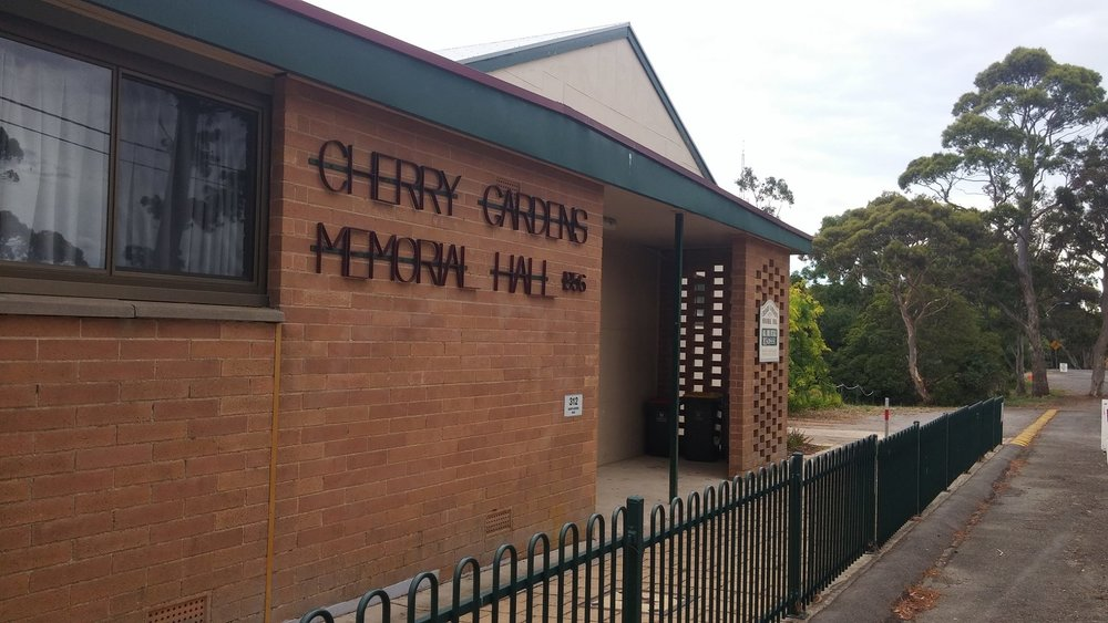 Cherry Gardens Memorial Hall for Hire - Available for hire for all functions, meetings & social occasions. Very reasonable rates. For bookings and more information phone 8270-2232