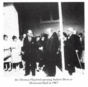 The new memorial hall was opened by the then Premier of South Australia, The Hon. Thomas Playford (later Sir) in 1956. -