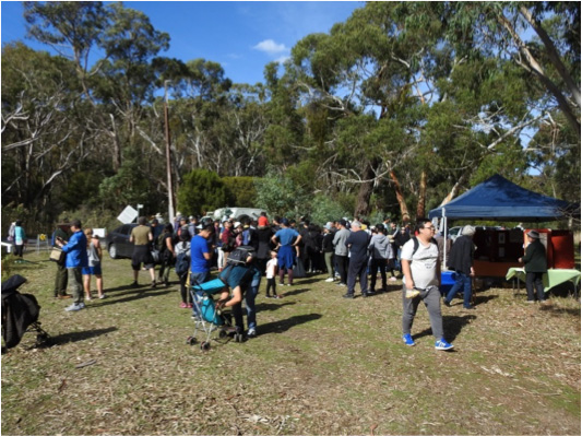 Part of the crowd at this year's Almanda Open Day