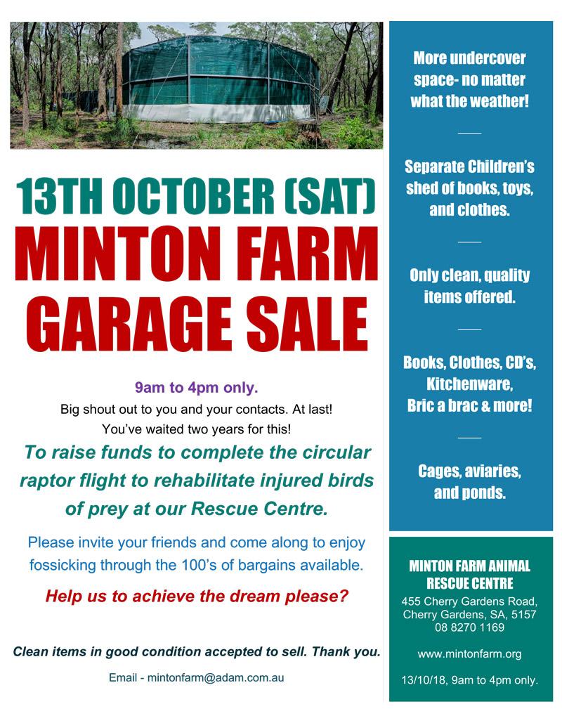 Minton Farm Annual Garage Sale 2018 — The 'Cherry Chatter'