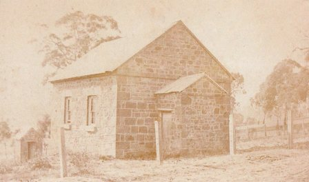 The chapel as it looked after construction and before the late 19th century additions.