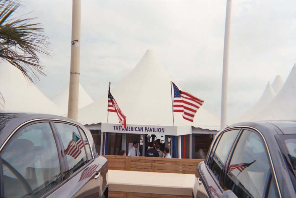 american Pavilion tent. Copyright 2003 Courtney Vallejo. All rights reserved.