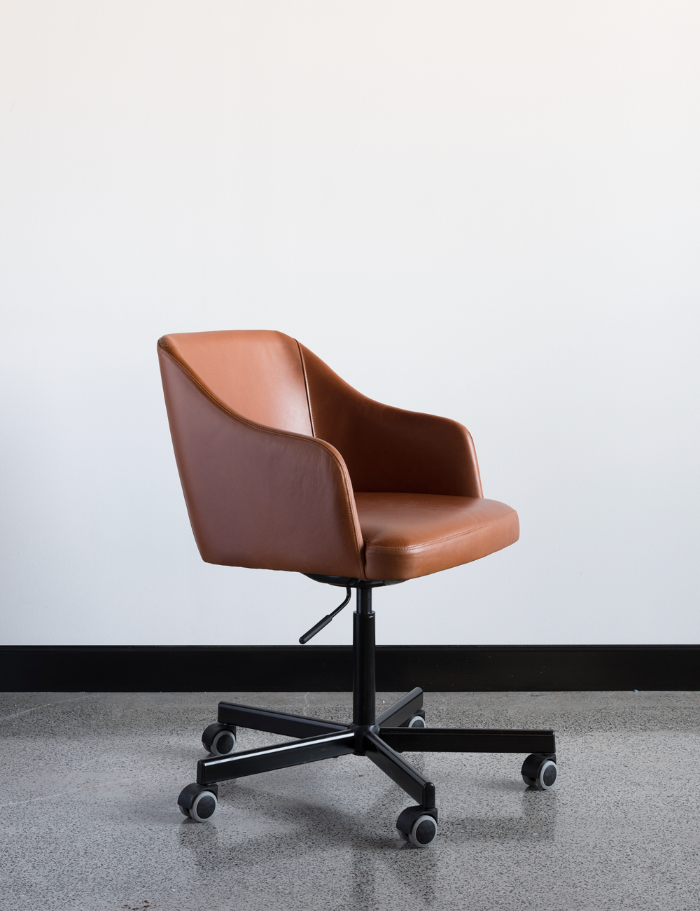 Cuir chair – Custom designed / created office chair
