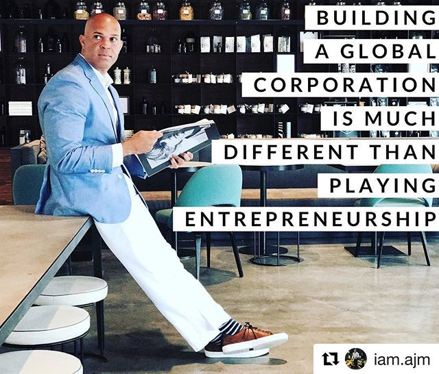 Our #ceo @iam.ajm speaking to #entrepreneurs about the reality of building a global corporation instead of playing entrepreneurship, that's the mentality needed to be successful. #streaming #media #losangeles #london #legos