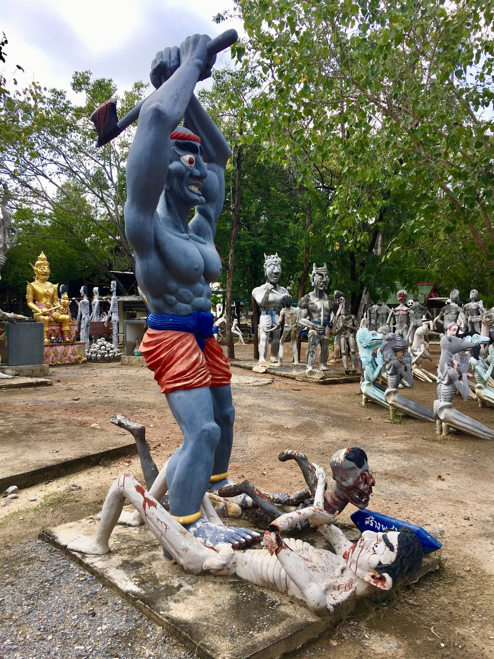 """Most of the statues in the """"Land of Hell"""" area at Wat Phai Rong Wua are explicit and frightening but frankly really interesting too"""