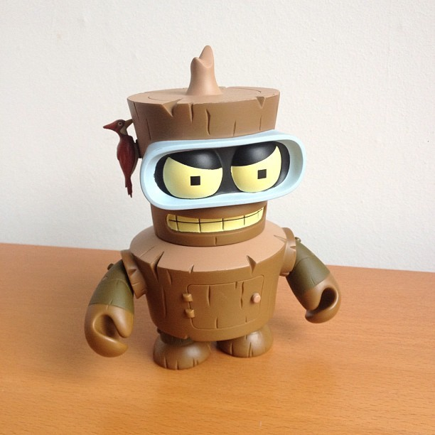 "Wooden Bender from ""Obsoletely Fabulous"" (Futurama, S4E14) who, in my house, is referred to as ""Craft Bender"""