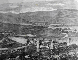 The Aqueduct Bridge under construction above Couligarten
