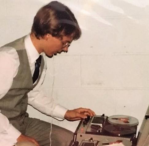 Budding DJ, c.1984