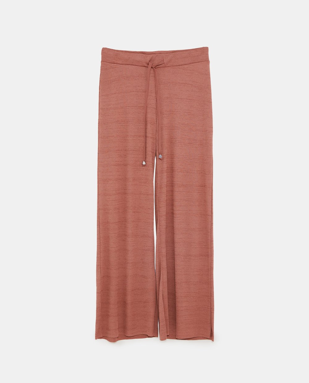 ribbed trouser, Zara, brick, £19.99