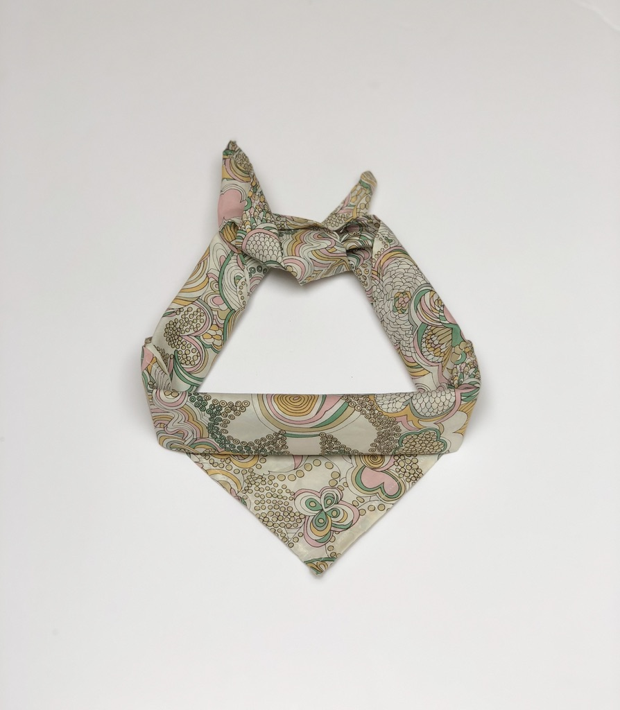 liberty print bandana, GBL, yellow, £20