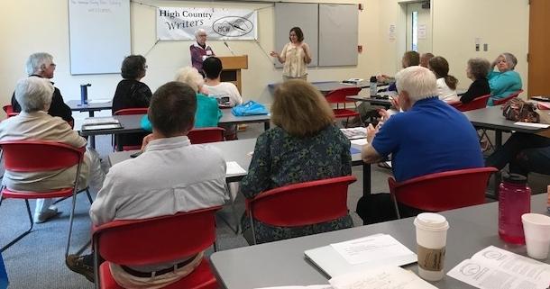 Monica Caruso presenting