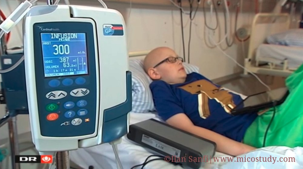 Application of a recorded version of the music imagery narratives by child during chemotherapy, Aarhus University Hospital.