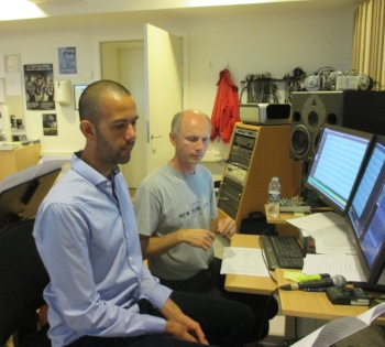 Post production – mixing and mastering the music recordings (Ilan Sanfi and Henrik Winther)