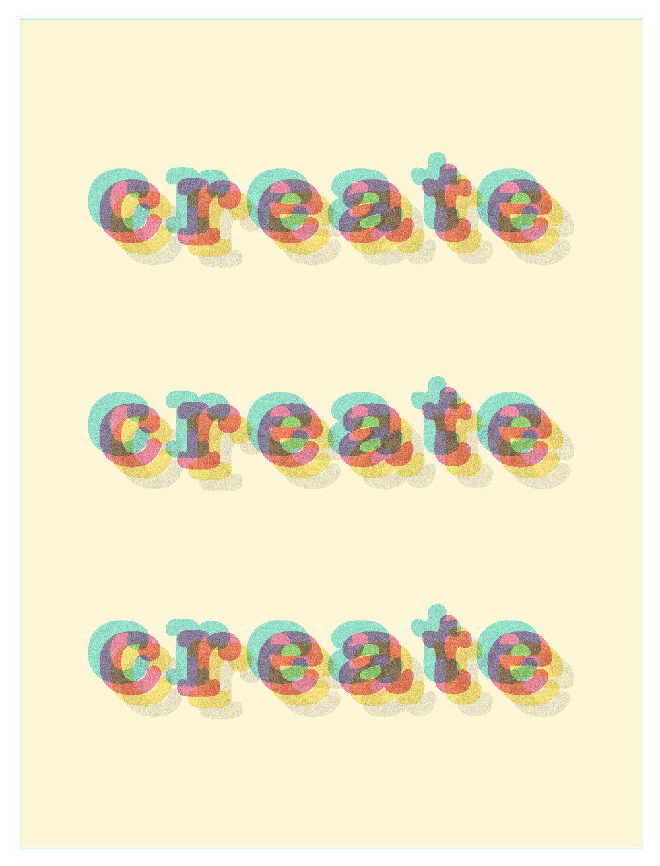 Create Create Create (Adobe Illustrator 2017)