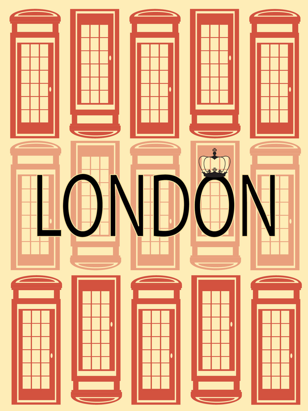 London Postcard (Adobe Illustrator 2017)