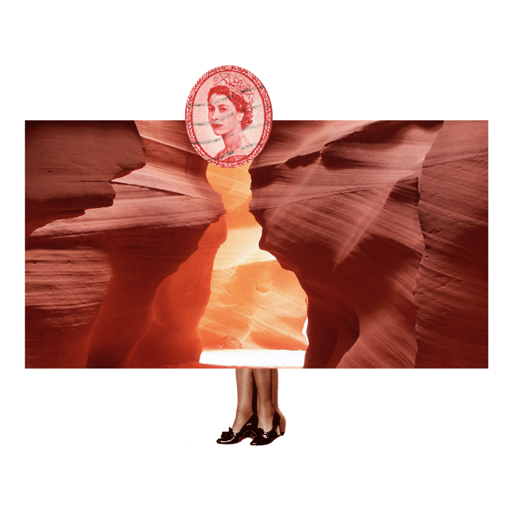 Queen Elizabeth X Antelope Canyon (Adobe Photoshop 2018)