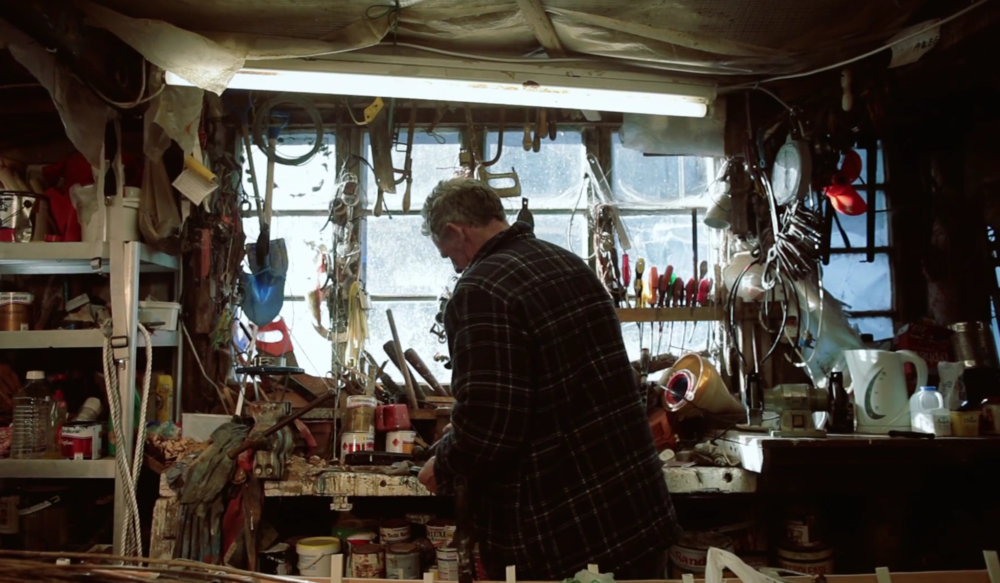 Malcolm in his Workshop
