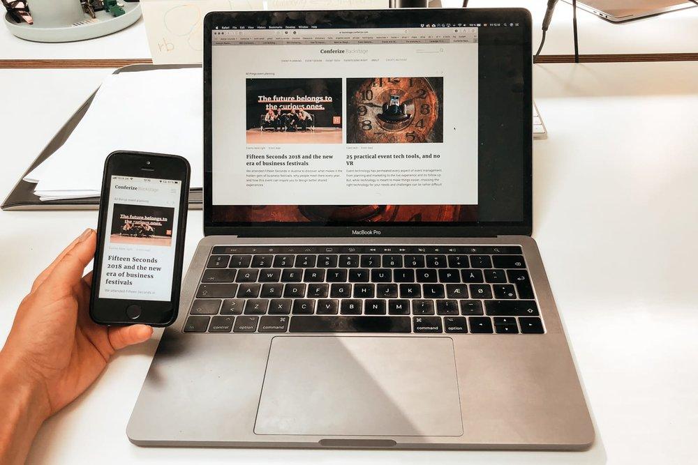 We use  responsive design  for the Conferize Backstage website 😉