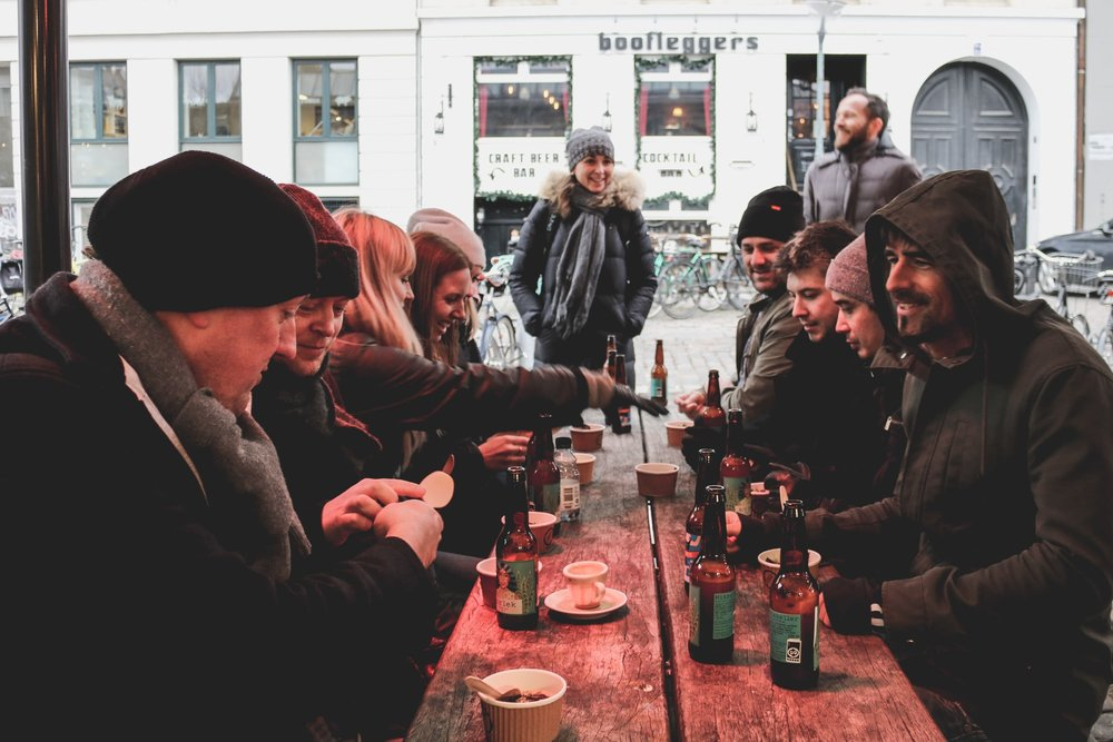 The Conferize team freezing in Copenhagen, Denmark