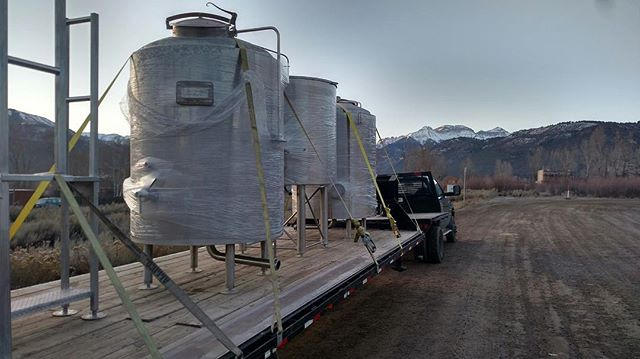 Setting up for an early morning delivery surrounded by the fantastic San Juan mountains