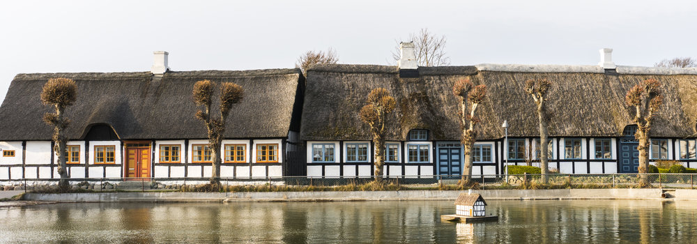 Old timber houses in Nordby, the most northern town on Samsø. Picture by Amélie Drouet