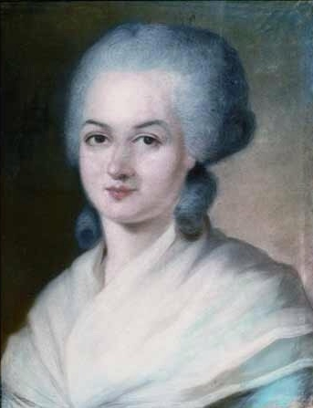 Potrait of Marie Gouze by Alexander Kucharsky.