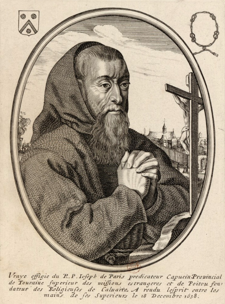 Portrait of père Joseph, from the Bibliothèque Nationale de France