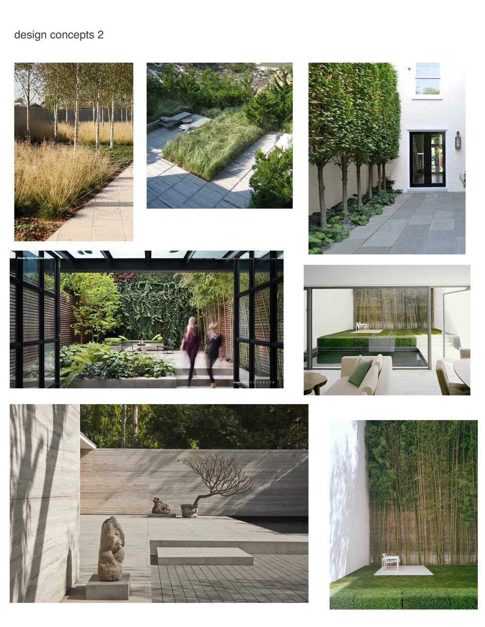 This is an example of a Looks Board we would provide, with images that are tailored to your garden needs.